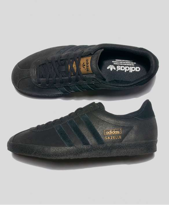 adidas gazelle black leather